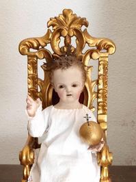 椅子に座る幼子イエス 35cm ケージドール  /H200 - Glicinia 古道具店