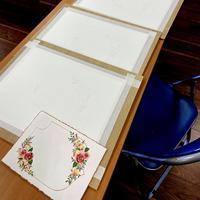 水彩画カリグラフィーに合う薔薇と小花2日間コース終了 - 風の家便り