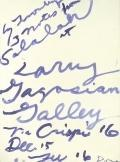 Cy Twombly: Three Notes from Salalah ポスター - Satellite