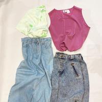 """""""Denim skirt"""" - 「NoT kyomachi」はレディース専門のアメリカ古着の店です。アメリカで直接買い付けたvintage 古着やレギュラー古着、Antique、コーディネート等を紹介していきます。"""