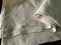 19世紀手織り極厚麻シーツ675 - スペイン・バルセロナ・アンティーク gyu's shop