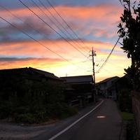 朝焼けと旧山陽街道 - ドライフラワーギャラリー⁂ふくことカフェ