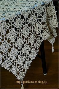 巻き編みのモチーフつなぎエンドです - 花・tuzuri