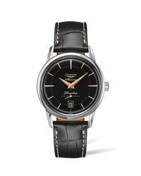 ロンジンの腕時計「フラグシップ ヘリテージ」ブラック文字盤の新色、ローズゴールドの針&インデックス - スーパーコピーブランド通販サイトpapa2018.com