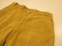 """""""THE GREAT PACIFIC IRON WORKS CORDUROY PANTS""""ってこんなこと。 - THE THREE ROBBERS ってこんなこと。"""