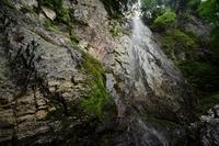 源流の滝を見上げる阿古滝 - 峰さんの山あるき