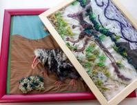 刺繍で恐竜2匹、グアンロン&アルバートサウルス① - とんでもひつじ日和