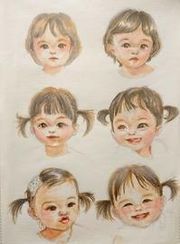 コピック&似顔絵練習【女の子】 - 鉛筆と遊ぶ