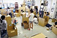 児童画クラス2020年8月テーマ「ダンボールで乗り物を作ろう」ご紹介 - 大阪の絵画教室|アトリエTODAY