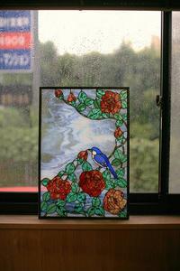 薔薇のパネル - ステンドグラスルーチェの日常