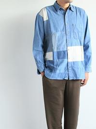 SLIDER STORE × WEST'S(WESTOVERALLS)Used Remake Shirt - 『Bumpkins putting on airs』