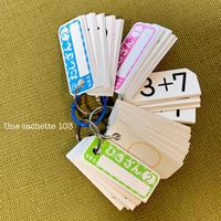 677. 算数カードと、息子が書いた手紙 - Une cachette 103