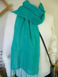 生徒さんの作品、模紗織り、クラックル - アトリエひなぎく 手織り日記