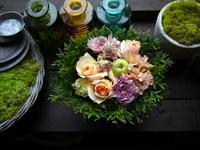 ワンちゃんのお供えにアレンジメント。2020/08/14。 - 札幌 花屋 meLL flowers