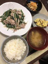 豚肉と空芯菜の炒め物 - 庶民のショボい食卓
