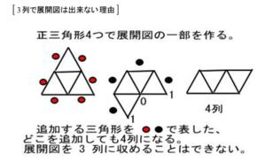 正八面体の展開図<5>3列はない理由 - 齊藤数学教室のお弟子さんを取ります。年令実力は問わず。