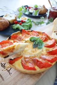 (おかずレシピ)まるごとカマンベールとトマトのキッシュ - おうちカフェ*hoppe