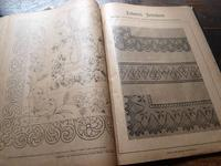 刺繍 レース 図案集 アイリッシュクロシェ1900年/H118 - Glicinia 古道具店