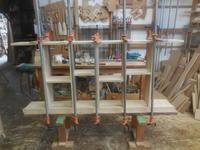 カウンター下の本棚組立て2 - 手作り家具工房の記録