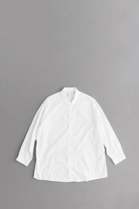 NO CONTROL AIR 100/2 コーマ高密度ブロード ワイドシャツ(オフホワイト) - un.regard.moderne