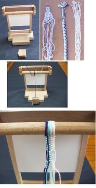 卓上マクラメ台 - オルサのミニ手織機・卓上組紐台