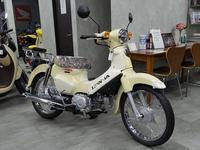 ベージュのスポーツカブ - バイクの横輪