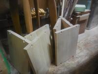カウンター下の本棚可動棚板と平置台 - 手作り家具工房の記録