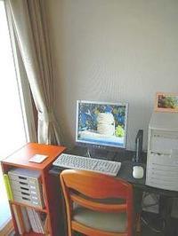 パソコンの置いてある机 - 綺麗な部屋のママでいたい