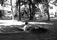 夏休みの一人砂場遊びとマスク - 照片画廊
