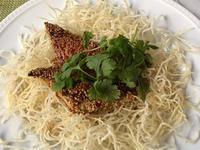 胡麻と生姜味のエスニック風イナダのソテー&カリフラワーのタブレサラダ - やせっぽちソプラノのキッチン2