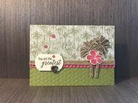 夏のご挨拶カード…夏の島 - 胡桃っ子の家