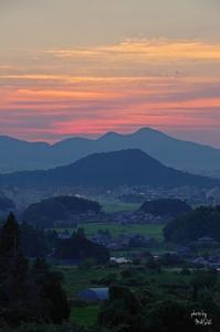 明日香村八釣夕景 - ぶらり記録 2:奈良・大阪・・・