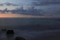 朝の駿河湾 - 朝の散歩道