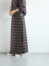 NEEDLESWrap Skirt - Plaid Twill / Charcoal - 『Bumpkins putting on airs』