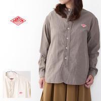 DANTON [ダントン] W's L/S 先染めビエラ起毛 NO COLLAR SHIRTS [JD-3606VSS] 長袖バンドカラーシャツ・コットンシャツ・LADY'S - refalt blog