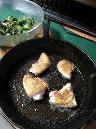 ニトリスキレットパン19cm鶏モモ肉の塩焼き - 無言は多様