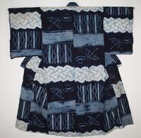 古布木綿浅舞絞り文明開化文様Japanese Antique Textile Asamai-Shibori - 京都から古布のご紹介