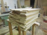 着物チェストの抽斗の底板木取り - 手作り家具工房の記録