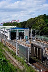 [鉄道/大井機関区・車両基地]大井中央陸橋からの眺め - 新・日々の雑感