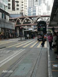 トラム西行@百德新街→銀行街 - 香港貧乏旅日記 時々レスリー・チャン