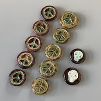 陶器のボタン、初制作。 - nonacafe庵『奥の院』通常観覧