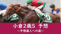 小倉2歳S2020予想 - 競馬好きサラリーマンの週末まで待てない!
