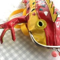 色とりどりのエナメル革の爬虫類的がま口 - 布と木と革FHMO-DESIGNS(エフエッチエムオーデザインズ)Favorite Hand Made Original Designs