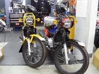 クロスカブのローダウン - バイクの横輪