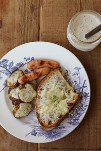 しらすトースト&バナナジュース - Nasukon Pantry