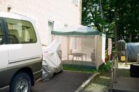 戸建て住宅のジンギスカン用常設テント - 照片画廊