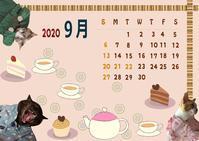 オリジナルカレンダー9月 - ぎんネコ☆はうす