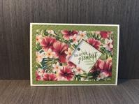 夏のご挨拶カード…南国の花 - 胡桃っ子の家