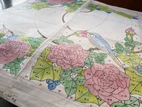 薔薇のパネルデザイン画完成 - ステンドグラスルーチェの日常