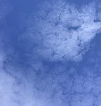 マーブル柄のような雲「白」 - 筆文字・商業書道・今日の一文字・書画作品<札幌描き屋工山>